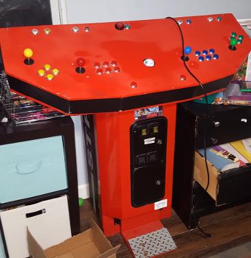 Custom Arcade in Crisis Zone Pedestal